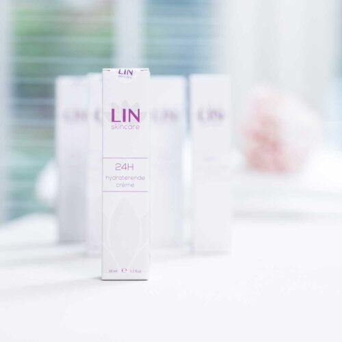 De hydraterende 24-uur crème van LIN Skincare
