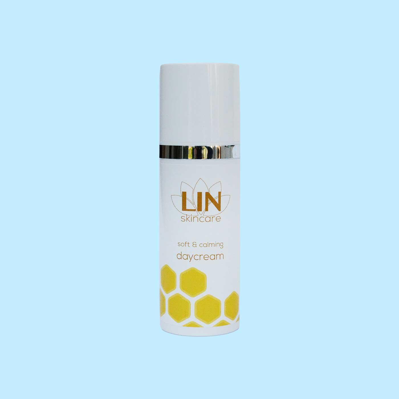 Ervaar de kalmerende dagcrème van LIN Skincare.
