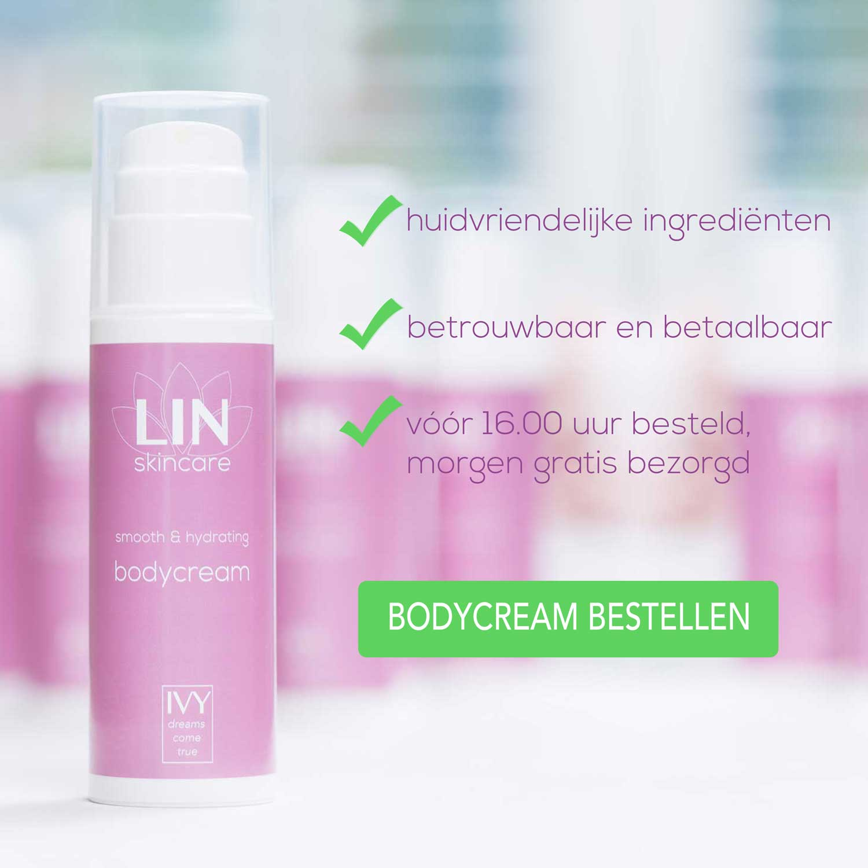 Hydraterende en verzachtende bodycreme van LIN Skincare
